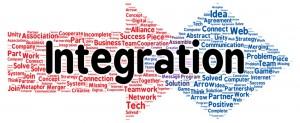 Integration word cloud shape